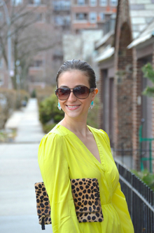 Neon Yellow Wrap Dress, neon yellow, dress, lulu's, summer, leopard, LMclutch