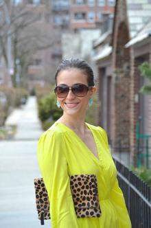 Neon Yellow Wrap Dress, neon yellow, dress, lulu's, summer, leopard, LMclutch