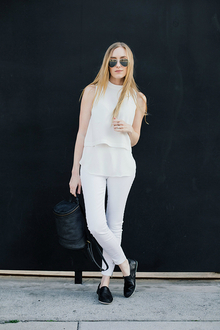 Best Foot Forward: Spring Clean Your Shoe Routine, music festival, white, slip-on, backpack, black and white, LMallwhite