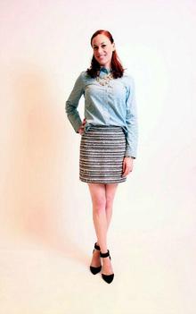 Madewell x LookMazing, Chambray, Polka Dot, Tweed, Mini Skirt