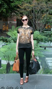 Leopard Look, Asos, Paige Denim, Corduroy, Velvet, Longchamp, Le Pliage, OASAP, satchel, Fall, animal