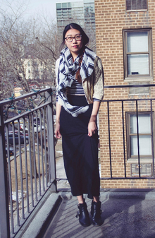 Black & White, winter, casual, school outfit