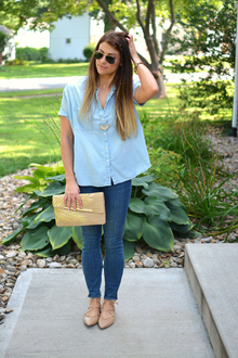 http://lestylorouge.com, lilly pulitzer, madewell, denim, chambray, #Pointed #BACKTOSCHOOL #Back to school