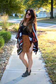 Old Navy Poncho + Suede., old navy, oldnavystyle, ponchos, ankle boots, jeffrey campbell, forever 21, asos, neutrals