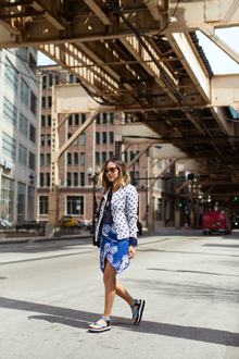 Exploring Chicago in Teva Sandals, LMflatform, flatform sandals