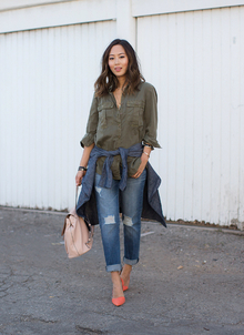 Boyfriend Shirt and Boyfriend Jeans, destroyed jeans, boyfriend jeans, distressed jeans, LMdjeans