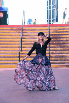 Queen of Coney Island, edgy, style, maxi, fun, rocker, chic, boho,