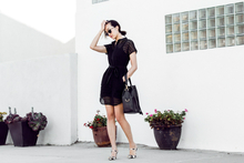 LITTLE BLACK WORK DRESS, bucket bag, black dress