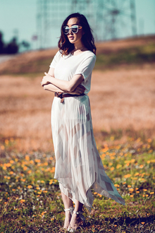 EVOLVEMENT, LMshades, romantic, maxi skirt
