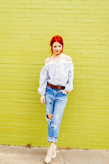 OFF THE SHOULDER, LMdjeans, distressed jeans, destroyed jeans