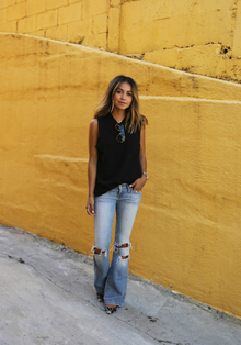Piper., destroyed jeans, summer, flare pants, LMdjeans