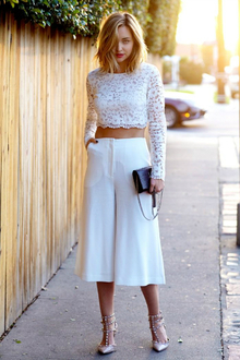THERE GOES THE SUN, LMculottes, culottes, LMallwhite, white