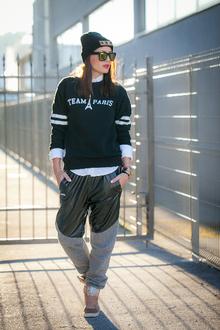 Clique, monochrome, joggers, sweatshirt