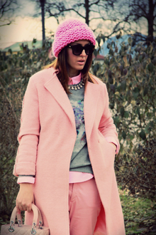 So Pink, pastels, coat, lady dior, dior, bag, pumps, pink, pants