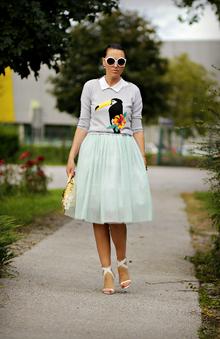 Little Friends, mesh, skirt, sweater, pastels