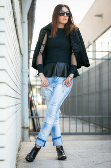 Miss Be BLACK, black, jeans