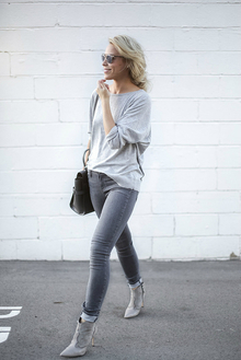 MUTED, ankle boots, grey