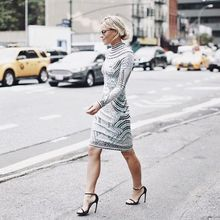 today leaving @herveleger #nyfw #happilygrey #hervelegernyfw, nyfwss16