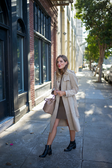 GIRL'S GUIDE TO WATCHES, trench coat, bucket bag, booties, workwear