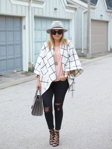 PERFECTLY PLAID, poncho, cape, plaid, check