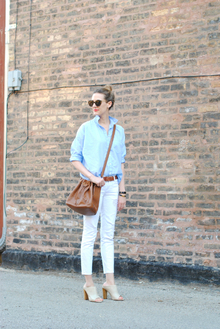 My Forever Favorites (See Jane Wear), destroyed jeans, white jeans, mule, LMdjeans