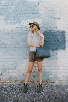 SUEDE SHORTS, ankle boots, suede short