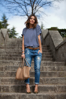 STRIPES AND LEOPARD, destroyed jeans, leopard, stripe, LMdjeans
