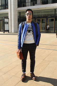Eye for Style, #NYFW #LincolnCenter #modern #leather #flannel #preppy