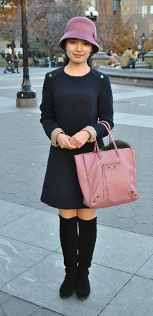 Pink Posh, suede boots, pink, bowler hat, tote, fall, casual, english, street style, classy