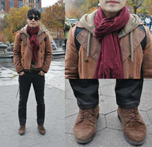 Made in South Korea, casual, fall, autumn, classic, black skinny jeans, wayfarers, maroon