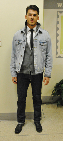 Levi's Advertisement , Levi's, denim, denim on denim, layers, Fall, casual, classy, rugged
