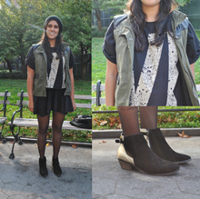 Grunge Vibe, fall, graphic tee, grungy, layers, booties