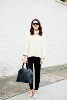 LACE UP FLATS, oversized sweater, turtleneck sweater, lace up flats