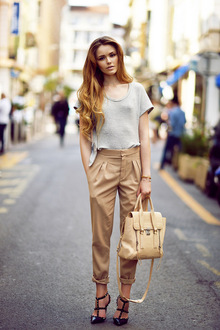 Arrival in Cannes, casual, glam, girly, trouser, satchel, valentino, rockstud, topshop