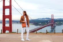 Golden Gate, fringe, destroyed denim, white jeans, white