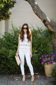 SUMMER WHITES , pointed shoes, white