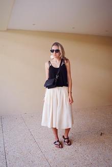Jupe-Culotte, minimal, culottes, sandals, round sunglasses, croco, LMculottes