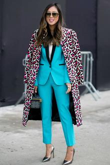 NYFW Street Style- Teal, newyorkfashionweek, nyfw, streetstyle, nyfwstreetstyle