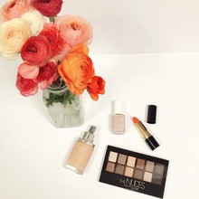 Spring Nudes Plus a Pop of Coral, #lmspringbeauty
