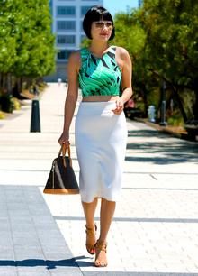 Summer Crop Top, summer, crop top, white skirt, midi skirt,