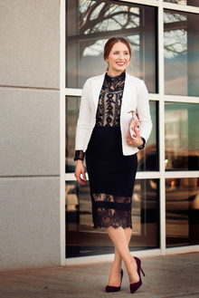Black and White Lace for Spring 2015 WWIB Contest, tops shop